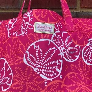 Lilly Pulitzer Bags - Lily Pulitzer Pink Sea Stars Beach Pool Tote Bag